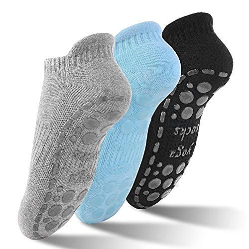 GOAMZ Yoga Socken rutschfeste Sportsocken für Damen mit Gummisohlen Atmungsaktivität ideal für Yoga Tanz...