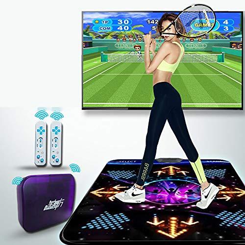 MKIU Hd rutschfeste Tanzende Tanzmatte, Dickere rutschfeste 3D-somatosensorische Spielmatte Computer/Fernseher Für Zwei Zwecke Doppelter Griff Für Yogamatten Für Erwachsene Und Kinder