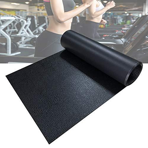 PPGE Home Fitnessmatten Trainingsgeräte Matten, Verschleißfeste Laufbandmatte, Bodenschutzmatte für Fitnessgeräte, rutschfest Trainingsmatte, Springseilmatte, Unterlegmatte für Laufband 220×60.5 cm