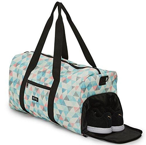 Ela Mo's Elegante Sporttasche Reisetasche mit Schuhfach | 38 Liter Handgepäck Weekender | für Frauen und...