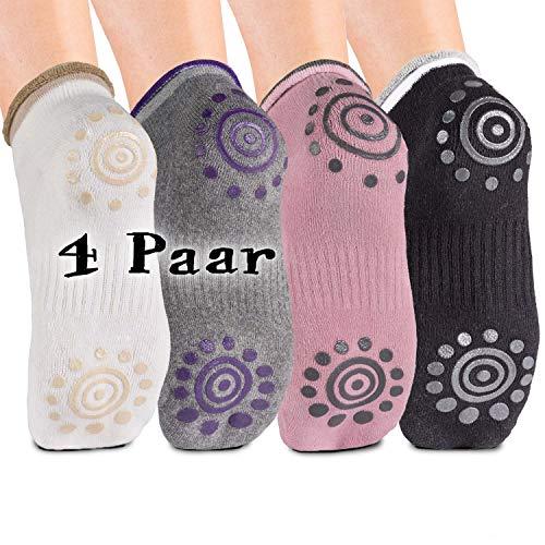 Body & Mind® Damen Yogasocken rutschfeste Socken für Yoga, Pilates, Aerobic und Fitness-Training;...