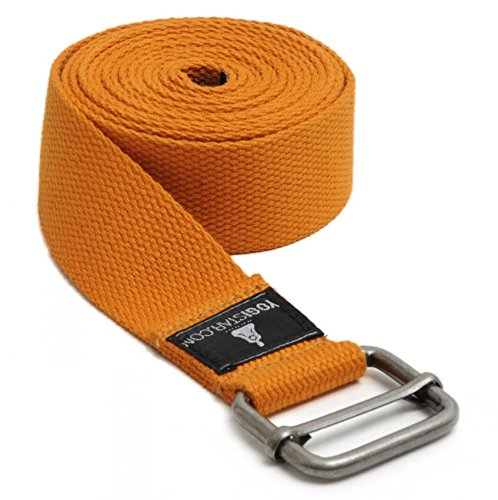 Yogistar Yogagurt - 260 cm - Metallverschluss - Orange