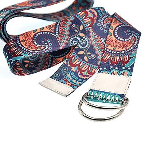 Sosila Yogagurt, Yoga Gurt aus Baumwolle, mit D-Ringen, Metallringe Stabiler Verschluss, für bessere Dehnung,...