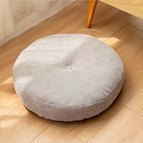 GPWDSN Rundes Baumwoll-Leinen-Bodenkissen, Japanisches Zafu-Meditationskissen, Dickes großes Tatami-Kissen, weiches einfarbiges Sitzkissen für Yoga Zen Office Home