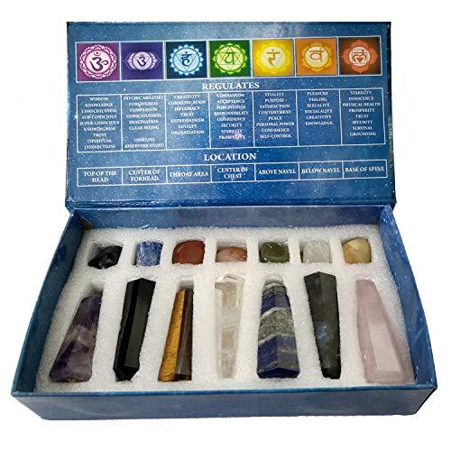 KACHVI Kristalle und Heilsteine Set Kristallgeschenke Heilkristalle Set Meditation Spirituelle Geschenke...