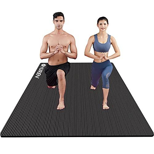YUREN Große Yogamatte 200x130cm Breite Gymnastikmatte 10mm/15mm Dicke NBR Fitnessmatte für Pilates Gymnastik...
