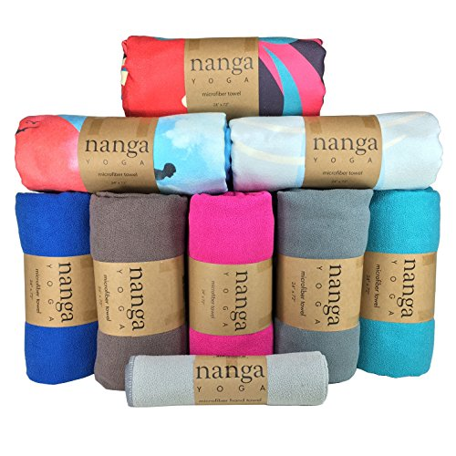 Hot Yoga Handtuch – schön, rutschfest, ultra-saugfähig, leicht, Mikrofaser-Handtuch für Yogamatten