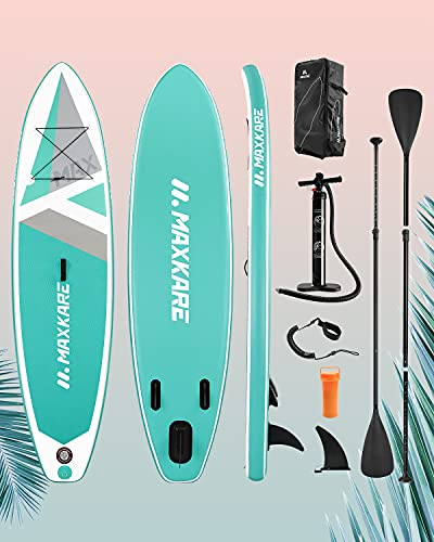 MaxKare® Stand Up Paddle Board Aufblasbares SUP Board Set mit 305 x 76 x 15 cm Premium Aufpumpbares Paddling...