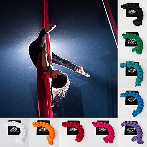 Play Juggling - Vertikaltuch für Luftakrobatik und Luftdisziplinen, 100% Polyester, Zertifiziert (6 Meter, ROT)
