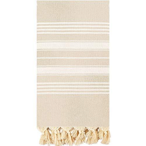 Captain&Mermaid® Premium Strandtuch aus 100% Baumwolle Oeko-TEX®| Badetuch | Handtuch | Yoga | Peshtemal | Sauna Tuch | Hamam Tuch | leicht, dünn & extra saugstark (Desert Dunes)