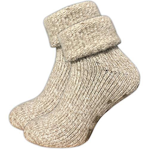 GAWILO 1 Paar Damen Stoppersocken – ABS Socken – Wollsocken – ohne drückende Naht – kuschelige...