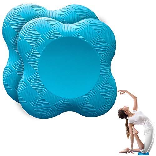 munloo 2 Stücke Kniekissen Yoga, rutschfest Knieschoner Matte Set Verschleißfesteschützt die Knie, Hände,...