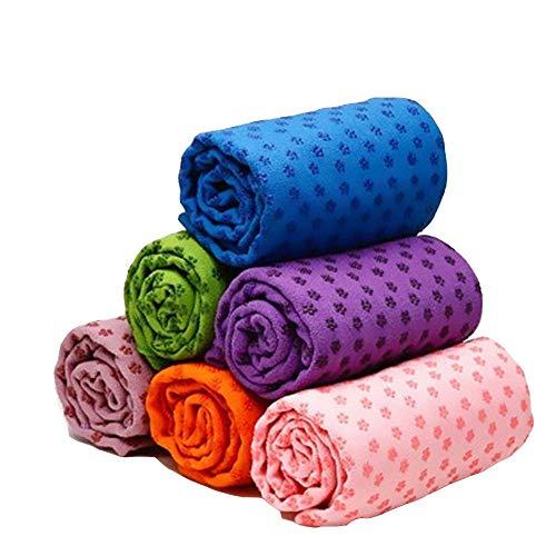 KSTYLE 72x24IN Weiche rutschfeste Yoga-Decken Yoga-Pilates-Matte Schnelltrocknendes Handtuch Bedruckte Reisedecke Indoor-Sportübung (Color : Sky Blue)