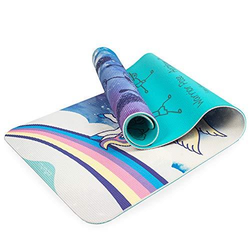 Myga RY1119 Sweet Dreams Kinder-Yogamatte - Kinder Gedruckte Trainingsmatte für Pilates, Mehrzweck-Fitness-Matte, 150 cm x 55 cm - 6 mm Dicke