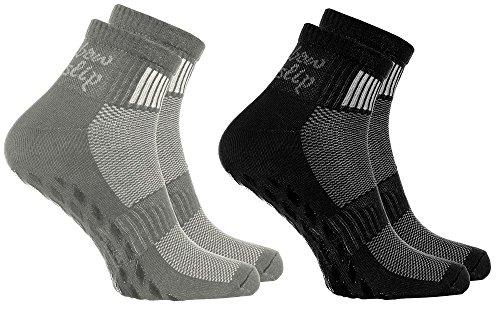 2 Paar bunte Anti-Rutsch-Socken mit ABS-System,ideal für solche Sportarten,wie Joga,Fitness Pilates...