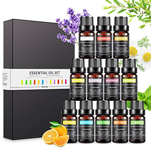 Magicfun Ätherische Öle Set, Aromatherapieöle Geschenkset 12 Pack, 100% reine natürliche Duftöle für...