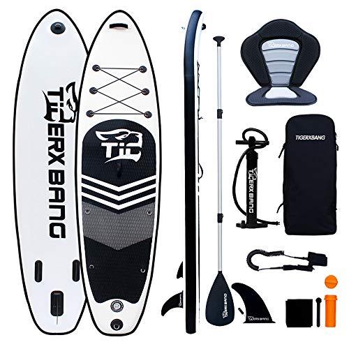 Tigerxbang SUP Board Stand Up Paddling Board | 10'6' 320x80x15cm | Kayak Seat| Komplettes aufblasbares Paddle...