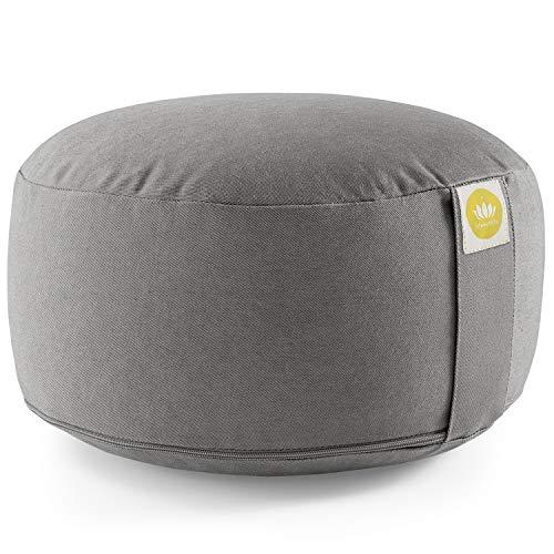 Lotuscrafts Yogakissen Meditationskissen Rund Lotus - komfortable & entspannte Mediation - Sitzhöhe 15cm -...