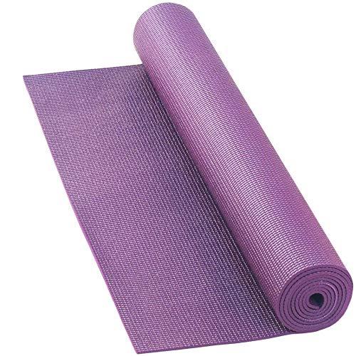 LILENO SPORTS Yoga Matte Beere (180x60cm) inkl. Tragegurt - Gymnastik und Fitnessmatte extra rutschfest in 4 mm Dicke - Sport und Yogamatte für Gym, Workout und Yoga - Sportmatte für Zuhause