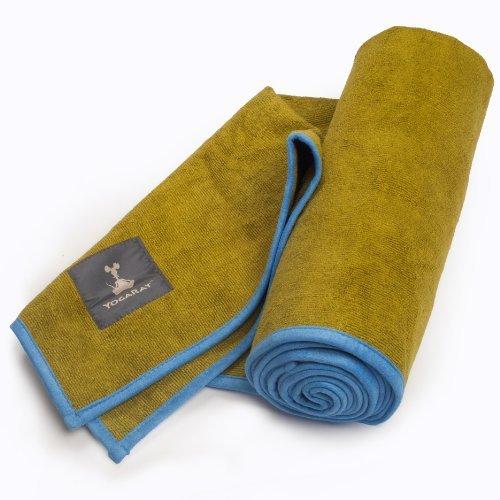 YogaRat Hot Yoga Handtuch: 100% Mikrofaser, 600gsm Ultra dick für Bikram, Yogamatte Größe und Hand Größe Handtücher
