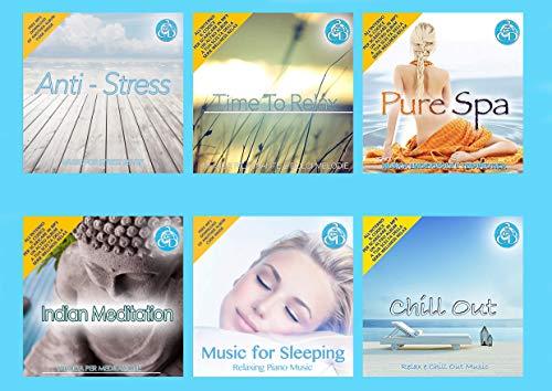 12 CD Wellness Relax - Entspannungsmusik, Meditation, Musik zum Schlafen