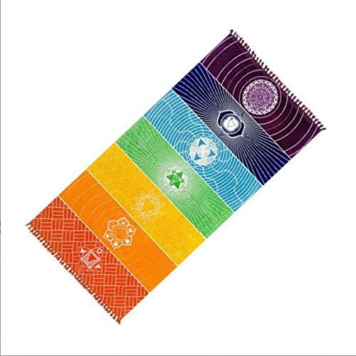 Aiong Strandmatte, rutschfeste Yogamatten Fitness Bohemia Mandala Regenbogen Yoga Decke Übung Sportmatte Baumwollteppich