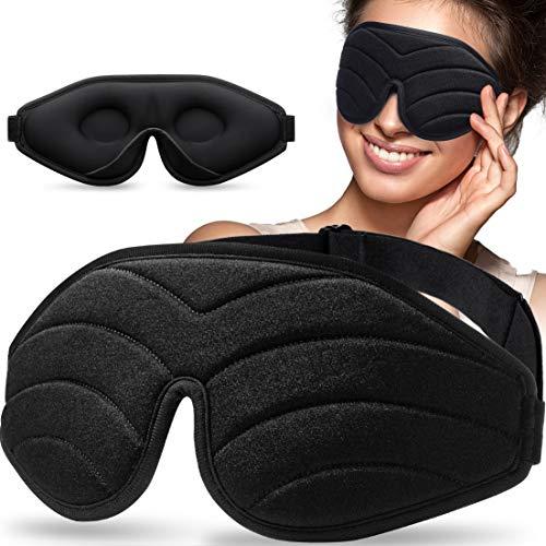 Schlafmaske zum Schlafen, Unimi 3D Konturierte Augenmaske & Augenbinde für Frauen & Männer, Superweich und...
