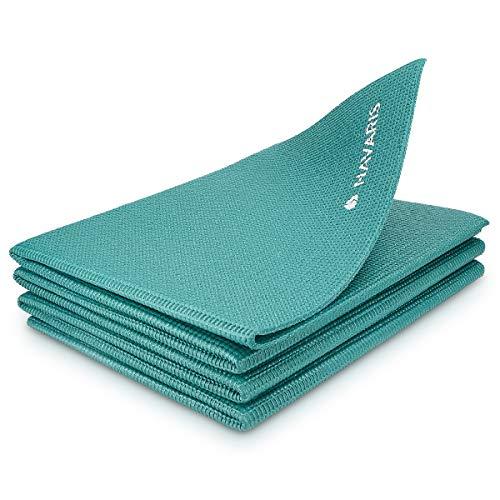 Navaris Klappbare Yoga Matte Fitnessmatte - 4mm Sportmatte Fitness Pilates Sport Gymnastikmatte rutschfest -...