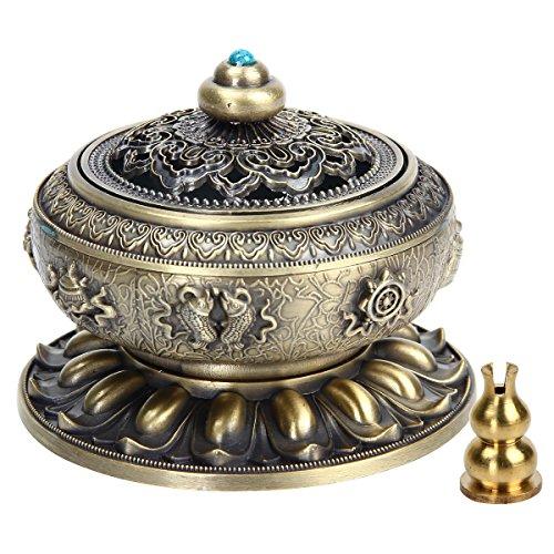 Kitchnexus Weihrauchbehälter Mit Räucherstäbchenhalter Tibetisches Handwerk 10 * 8 CM