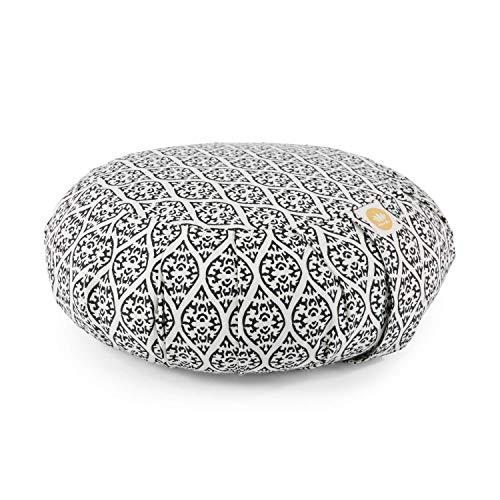 Lotuscrafts Zafu Meditationskissen Yogakissen Zen - Sitzhöhe 15cm - Yoga Zafukissen mit Dinkelfüllung -...