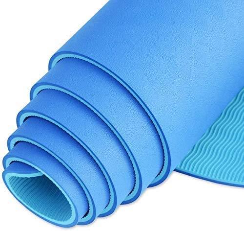 Busirsiz Yoga-Matten 6mm TPE Anti-Rutsch-Fitnessmatte Gymnastikmatte mit Bügel