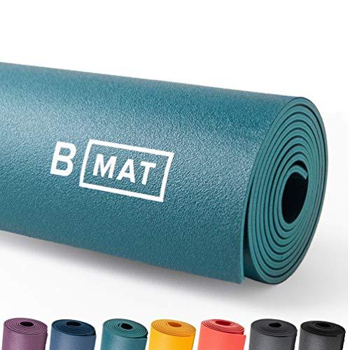 B Yoga Matte für Damen und Herren, 4 mm dick, 215,9 x 66 cm, Ozeangrün – 100% Gummi, rutschfeste...