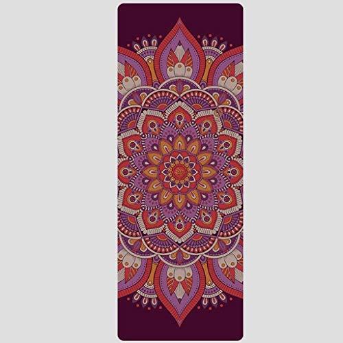 KAIBINY rutschfeste Matte Yoga-Matte,Beruf aus Naturkautschuk Fitnessmatte faltbar verbreitert und rutschfeste Yoga-Matte