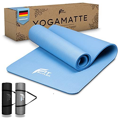 FITBUTLER - Yogamatte - Gymnastikmatte rutschfest − Phthalatfreie Yoga Matte aus NBR − Für Pilates, Yoga & Fitness − Sportmatte mit 183x61x1cm