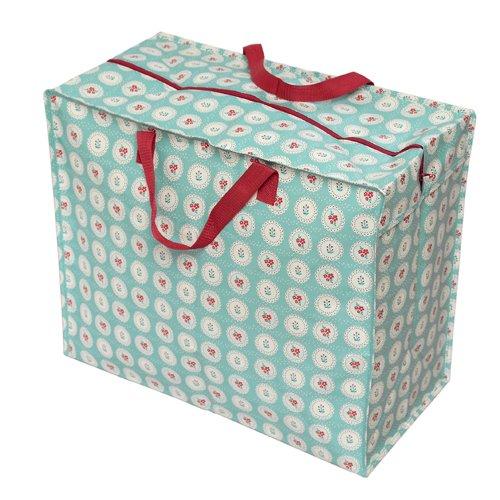 Große Aufbewahrungstasche Jumbo Bag Picknicktasche Tasche Einkaufstasche Wäschetasche Waschesack Blumen