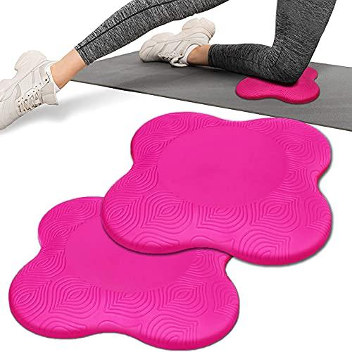 NSWD Yoga Kniekissen Yoga Bolster Knieschoner, 2 Stücke Yogamatte rutschfest, Yoga Pad für Pilates, Fitness, Kniekissen für Yoga Hände, Handgelenke und Ellbogen