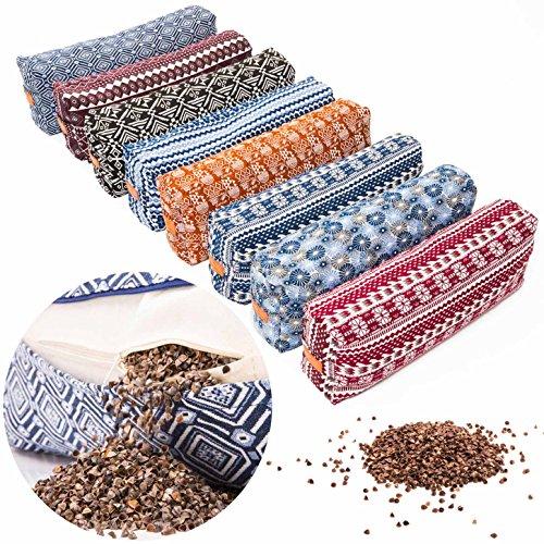 #DoYourYoga® Yoga Bolster »Paravati« mit Bio-Buchweizenschalen (KBA), waschbarer Bezug aus 100% Baumwolle,...