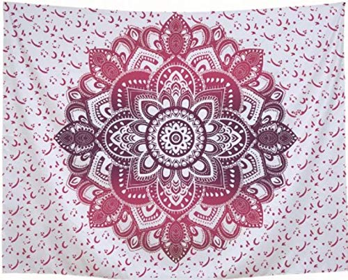 Yoga-Matte, Strandtuch, Tagesdecke, Mandala, Lotus, für die Dekoration zu Hause, 200 x 150 cm