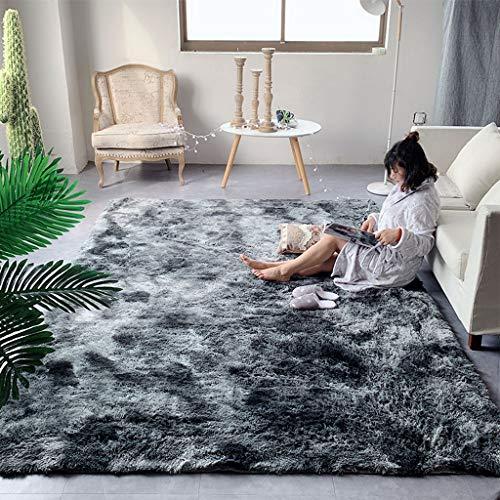 MINYU Teppich, superweich, zottelig, bequem, waschbar, rutschfest, flauschig, für Wohnzimmer, Schlafzimmer, Nachttisch, schöner Plüsch-Teppich, g, 80x200cm(31x79inch)