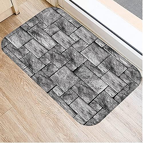 OPLJ Holz- und Steinteppiche, Kücheneingangsmatten, Indoor-Fußmatten, rutschfeste waschbare Teppiche A15 40x60cm