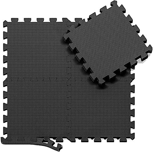 Skago Schutzmatten Set Puzzlematte Bodenschutz Matte - 18 Puzzle Bodenschutzmatten Unterlegmatte   Fitnessmatt