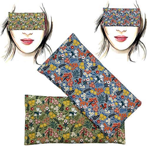 Augenkissen 'Pack 2 - Champs' | Lavendel Samen und Reis | Yoga, Meditation, Entspannung, für Ihre Augen ..