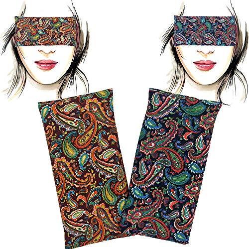 Augenkissen 'Pack 2 - Param' | Lavendel Samen und Reis | Yoga, Meditation, Entspannung, für Ihre Augen ..