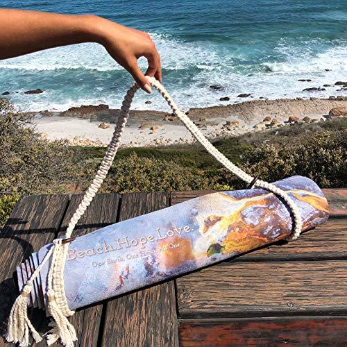 Beach.Hope.Love Handgemachter Macramé Tragegurt für Yogamatten und Sportmatten aus Baumwolle
