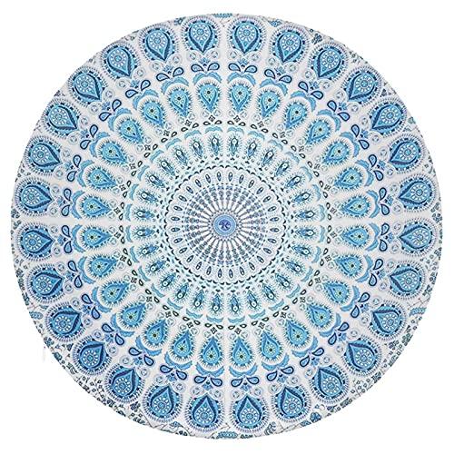 Rundes Sitzkissen mit Mandala-Blumen, Memory-Schaum, rund, Stuhlkissen, Lendenwirbelstützkissen, Yoga-Kissen für bequemes Sitzen, dekorativ für Zuhause, Sofa, Stuhl, Bett, Einheitsgröße