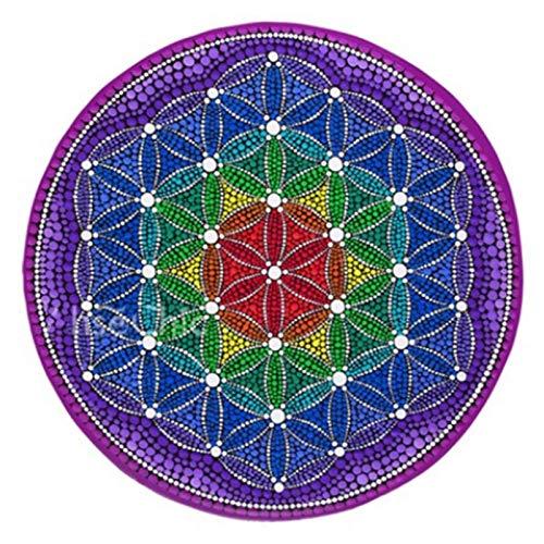 Teppiches CXIA Blume des Lebens Energie Runder, rutschfeste Weiche Schmutzabweisende Meditationsmatte Für Lebende Meditation Home Meditationskissen 3 Farbe(Color:CX-002,Size:100cm)