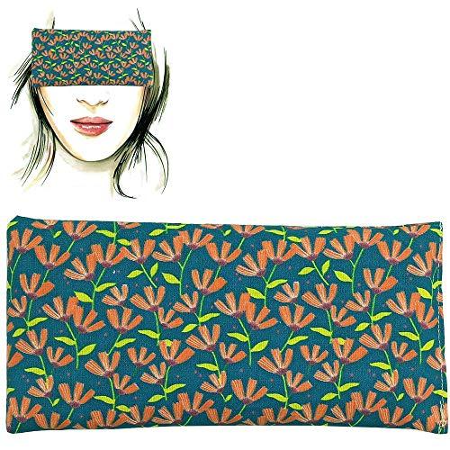 Augenkissen 'Flowers - Green' | Lavendel Samen und Reis | Yoga, Meditation, Entspannung, für Ihre Augen ..