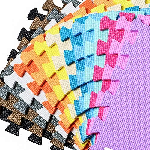 qqpp Eva Customized Puzzle Boden Schutz Matte | Unterlegmatte für Sport Fitness Training Turnen | Teppich zum Spiel Krabbel für Baby Kinder | Fitnessraum Spielecke Kinderzimmer Garage. QQZPC-b1X
