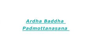 Ardha Baddha Padmottanasana