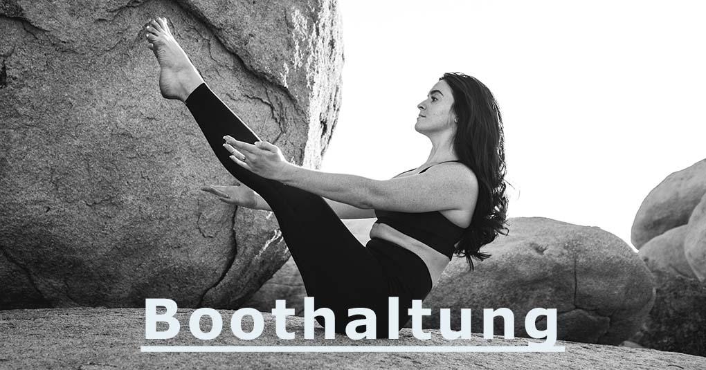 Boothaltung im Yoga